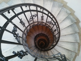 Stairs to the top of St. Stephen's Basilica